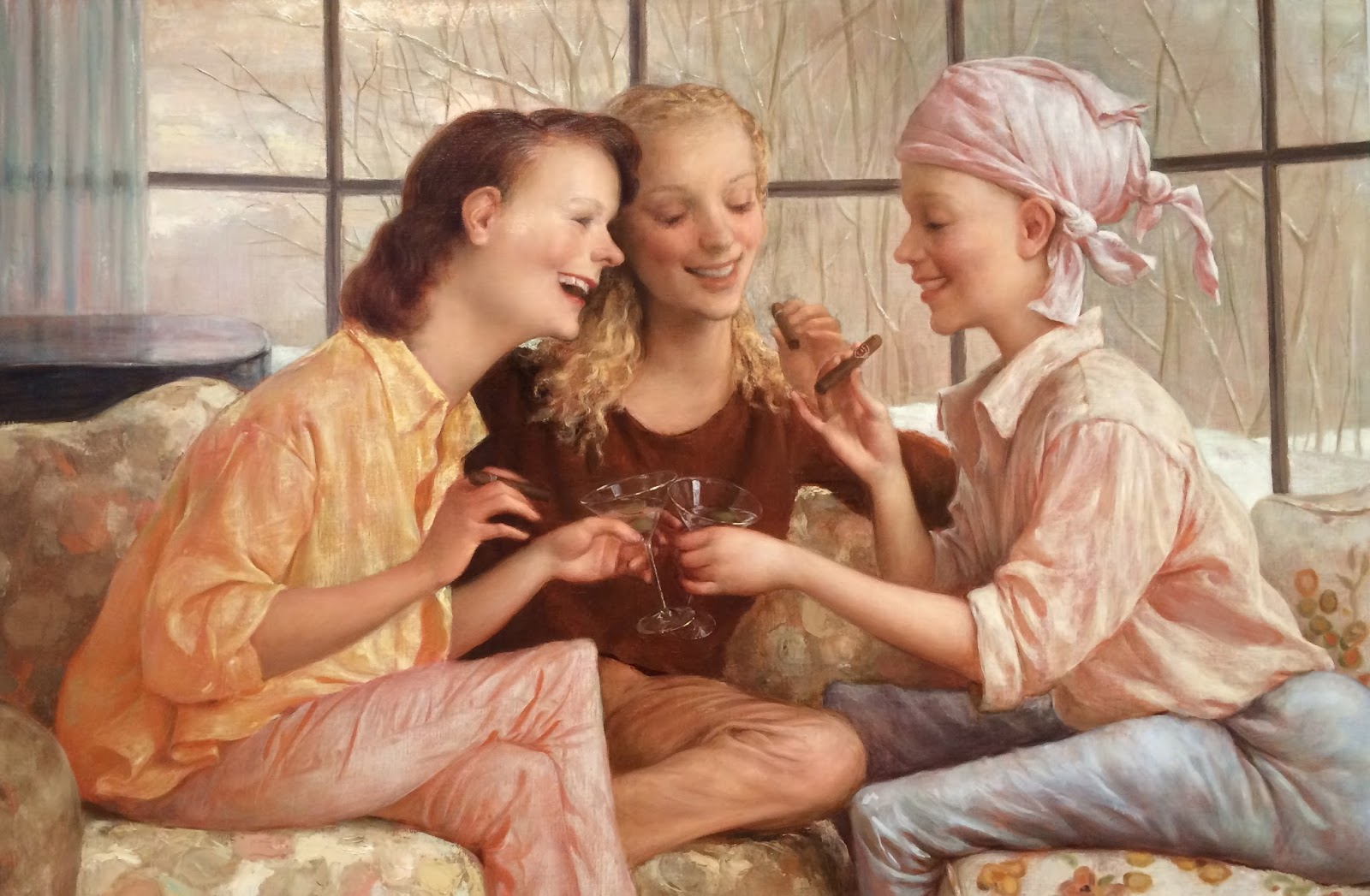 John Currin Stamford after Brunch.jpg