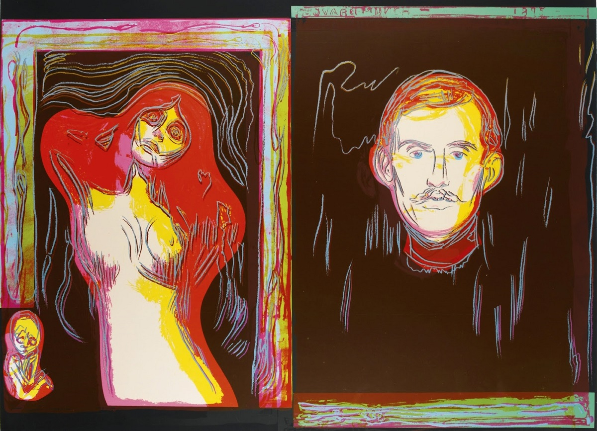 Andy Warhol Madonna and self portrait with skeletons arm after munch88.jpg