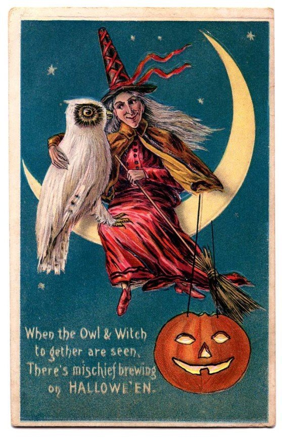 Lovely Vintage Halloween Postcards That Make You Feel Warm and Peaceful (21)_10112928823270218.jpg