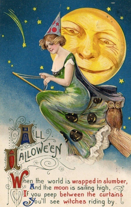 Postcards Greeting Halloween from the 1900s-10s (46)_10112962961611932.jpg