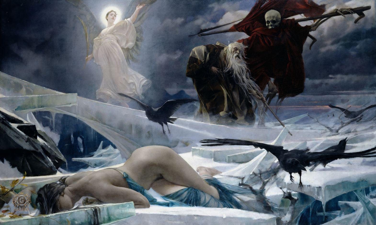 картина, созданная Адольфом Хиреми-Хиршлем в 1888 году..JPG