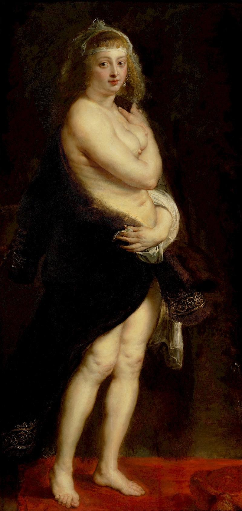 Элен Фурман в меховой мантии, Рубенс, 1636 до 1638.jpg