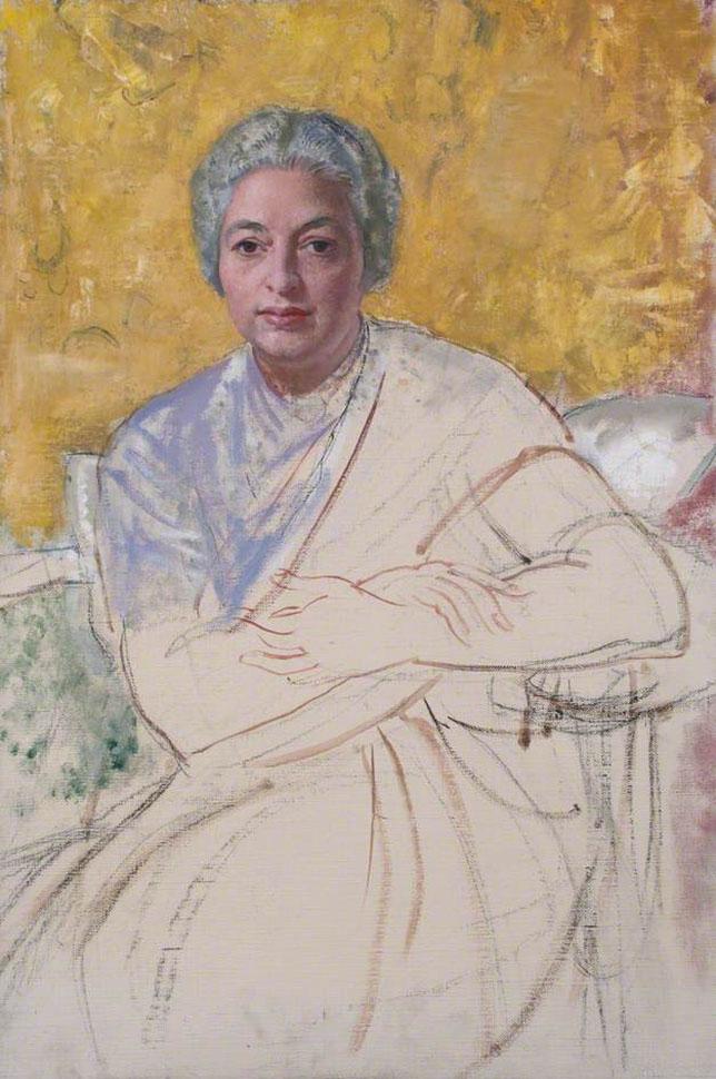 1970, Unfinished Portrait Vijayalakshmi Pandit (unsigned).jpg