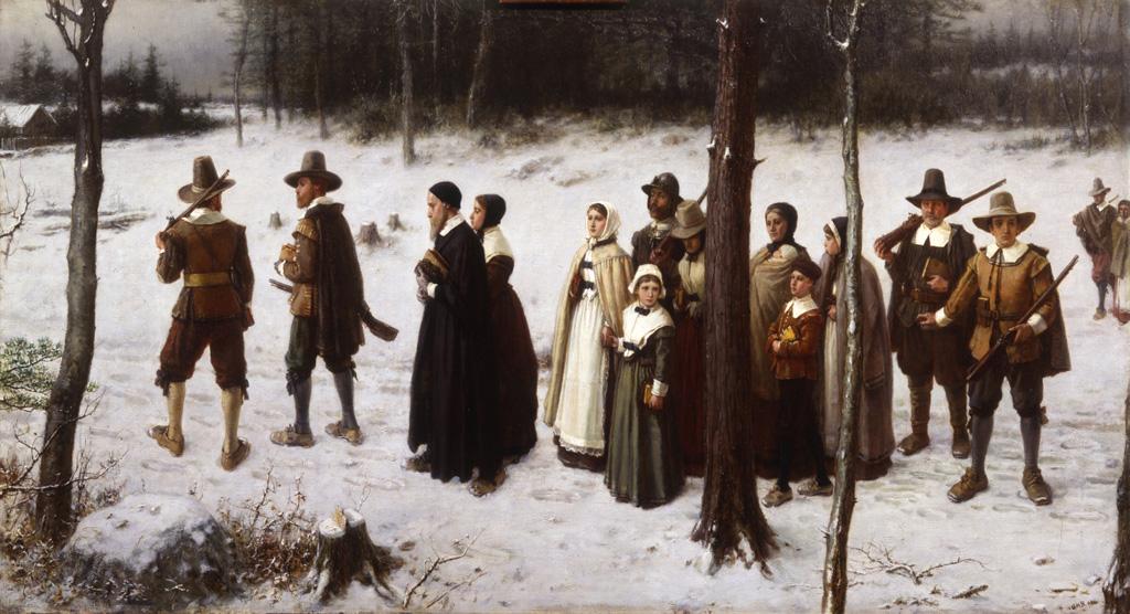 George Henry Boughton - Pilgrims Going to Church (1867).jpg