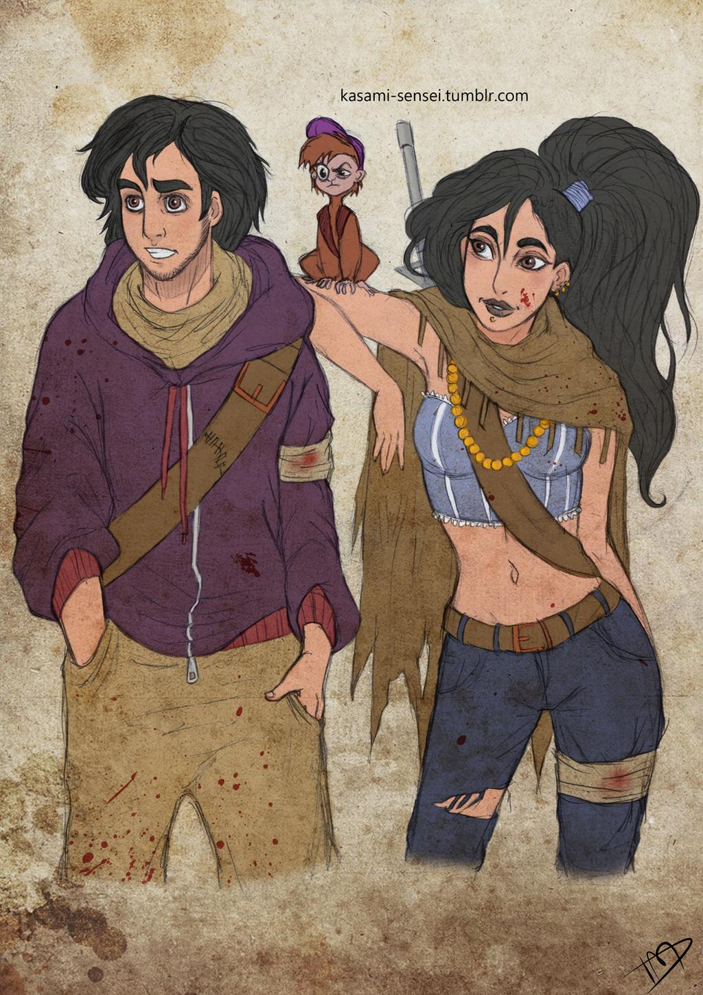the_walking_disney___aladin__jasmine_and_abu_by_kasami_sensei_d7hn5fe-fullview.jpg
