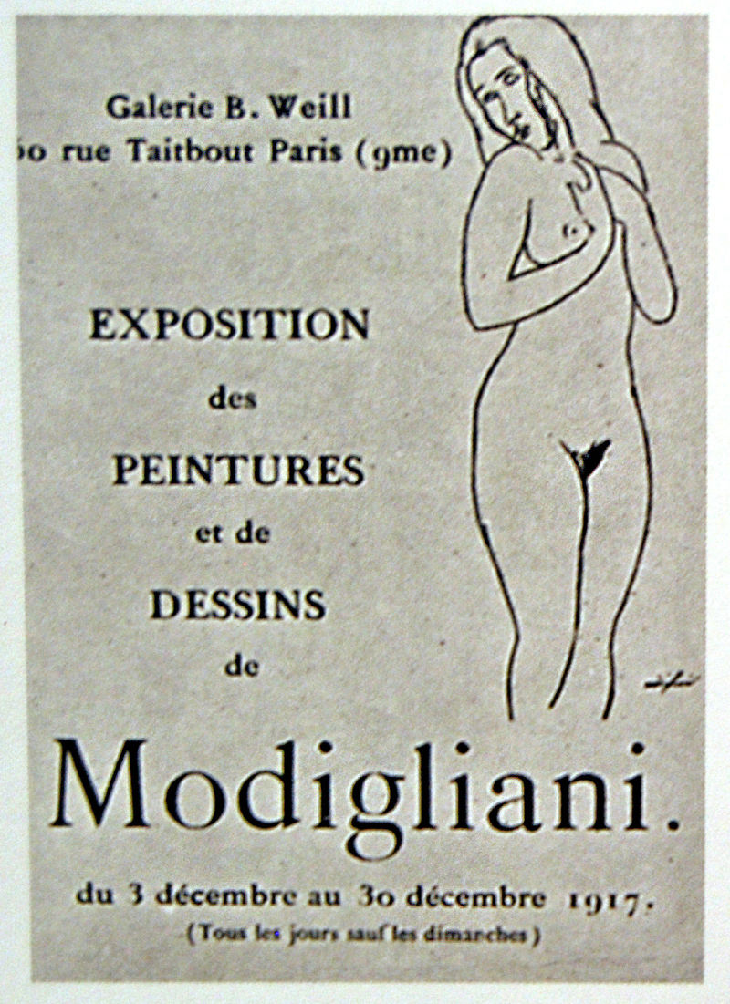 «Мы рискнули стать современными» 800px-Amedeo-Modigliani-berthe-weill-first-oneman-exhibition-nudes-1917-paris.jpg