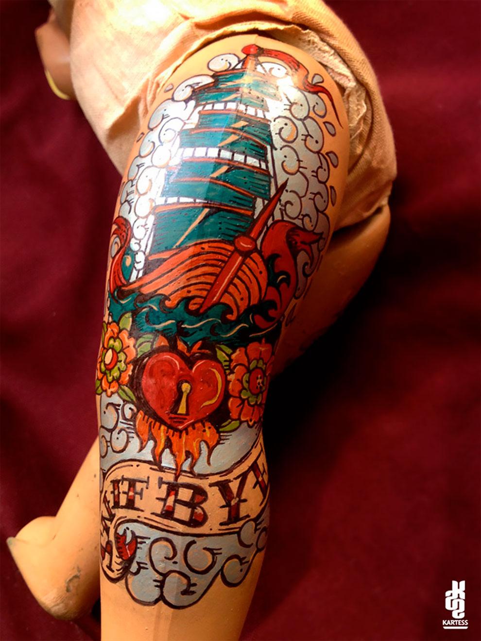Винтажные татуированные куклы от Kartess (5).jpg