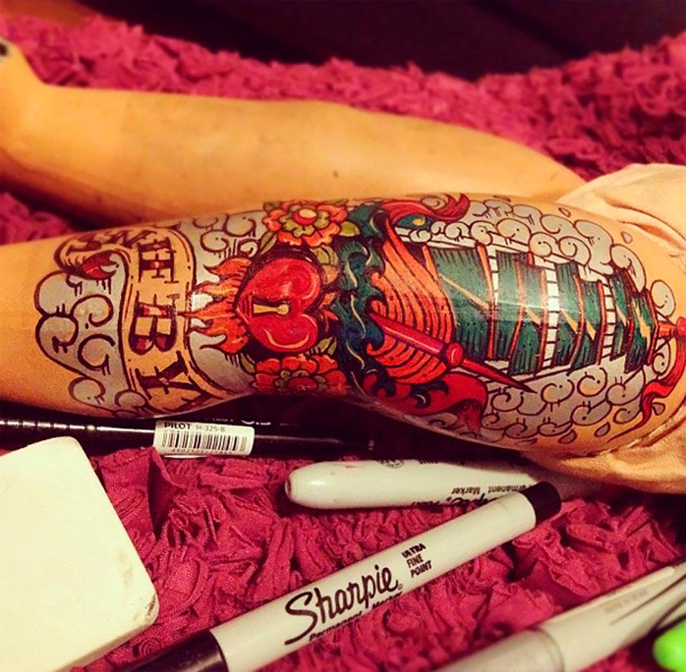 Винтажные татуированные куклы от Kartess (6).jpg