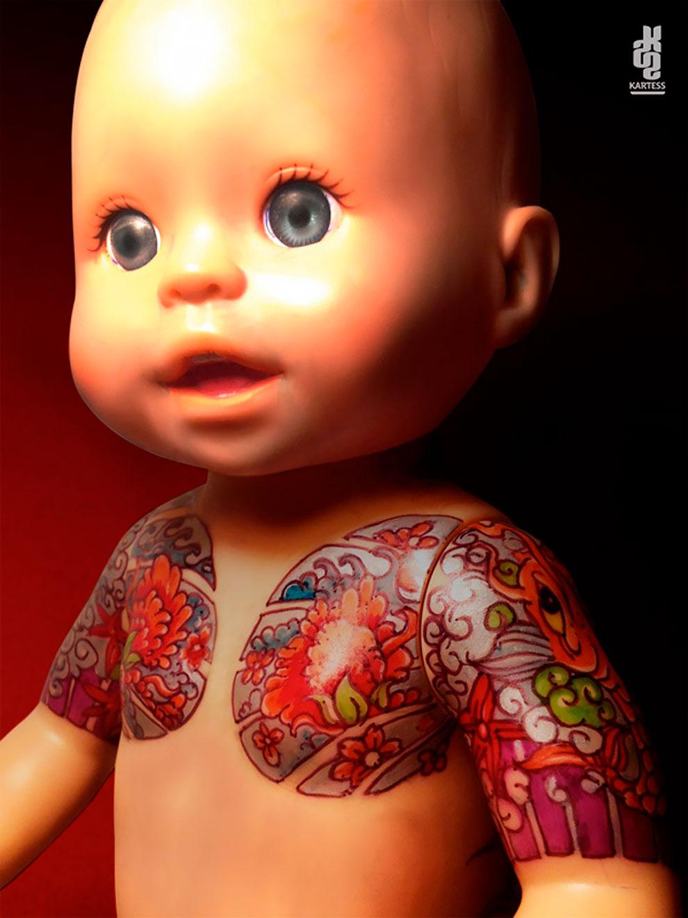Винтажные татуированные куклы от Kartess (10).jpg
