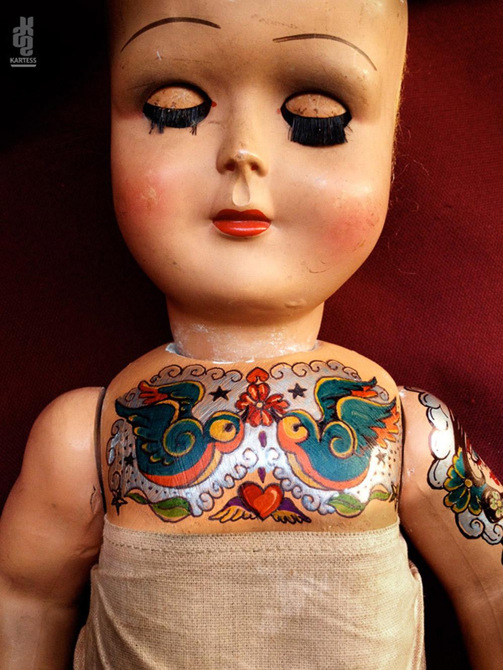 Винтажные татуированные куклы от Kartess (15).jpg
