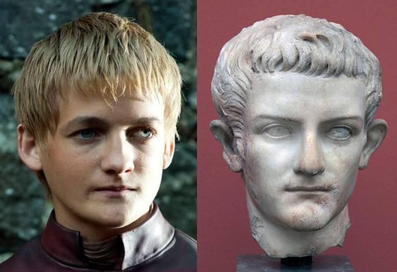 Джек Глисон, как Joffrey Баратеон – Калигула.jpg