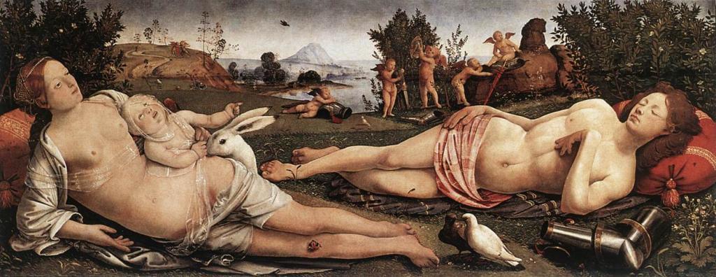 Венера, Марс и Купидон. 1490 г. Государственные музеи, Берлин.