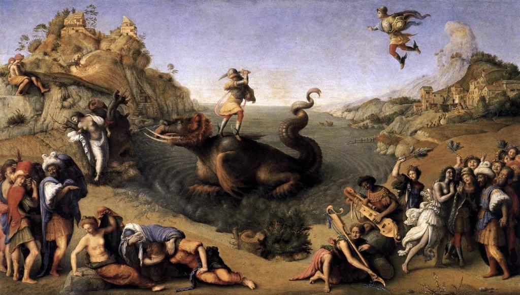 Персей и Андромеда.ок.1510 г.Пьеро ди Козимо. Масло. Галерея Уффици, Флоренция.