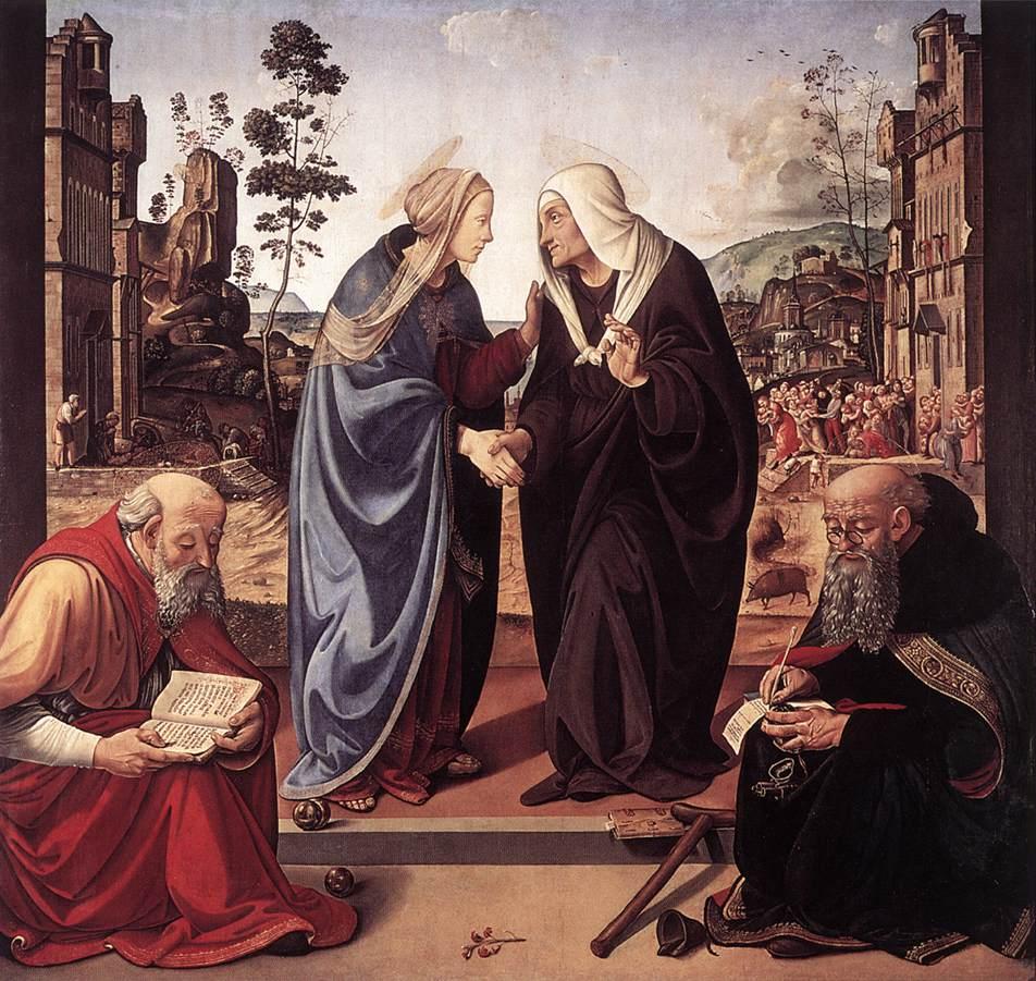 Посещение Богоматери со святыми Николаем и Антонием. 1489-90 гг. Пьеро ди Козимо. Национальная галерея искусства, Вашингтон.