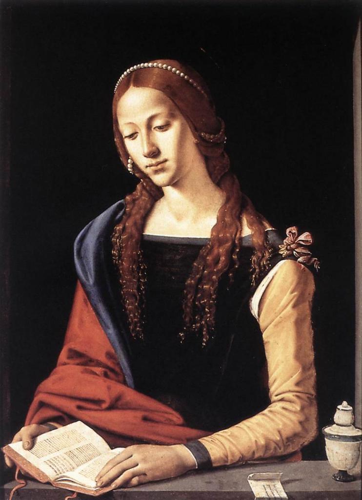 Святая Мария Магдалина 1490-е. Пьеро ди Козимо. Темпера. Национальная галерея античного искусства, Рим.