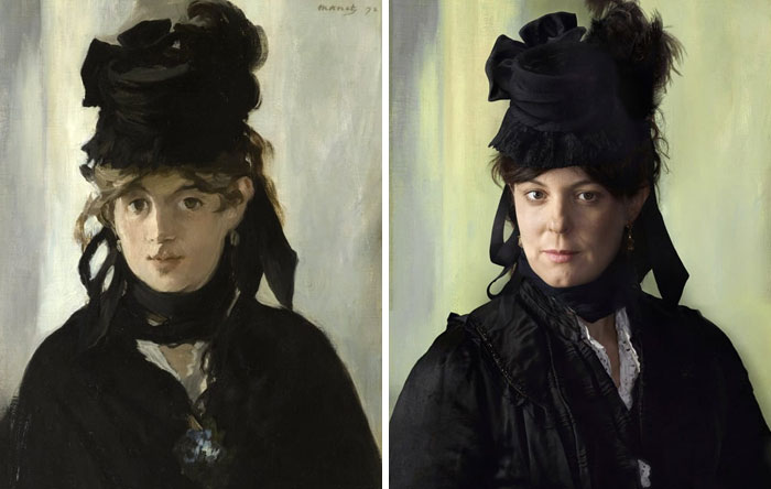 Берта Моризо (слева), 1872 г. и Люси Руарт (справа) правнучка Берты Моризо.jpg