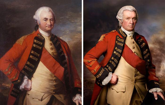 Клайв оф Индия, Роберт Клайв, 1773 (слева) и Роберт Холден (справа) пра-пра-пра-пра-внук Клайва из Индии.jpg