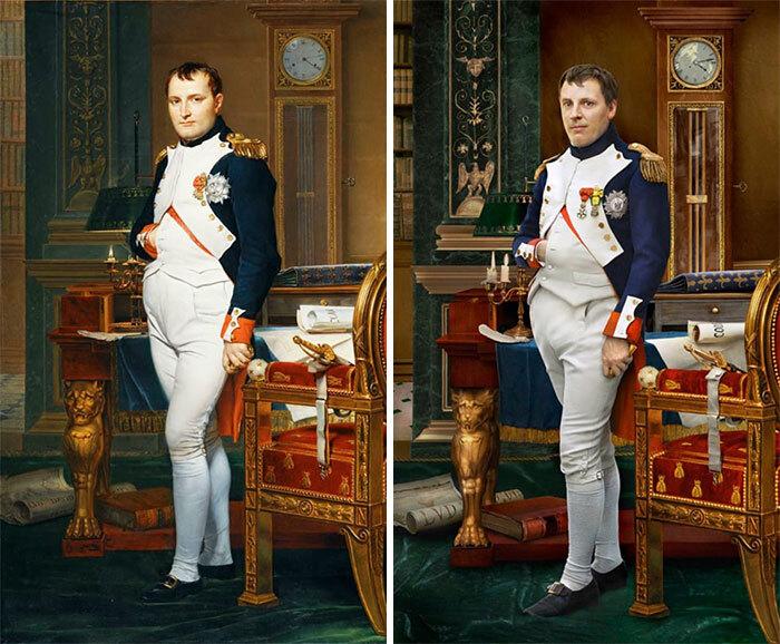 Наполеон (слева), 1812 г. и Уго де Салис (справа) пра-пра-пра-внук Наполеона.jpg