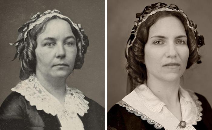 Элизабет Кади Стэнтон (слева), 1850 и Элизабет Дженкинс-Сахлин (справа).jpg