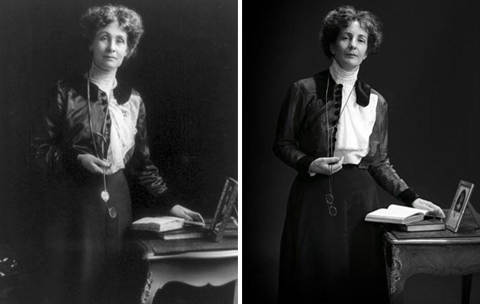 Эмелин Панкхерст (слева) и Хелен Панкхерст (справа) правнучка Эмелин Панкхерст.jpg