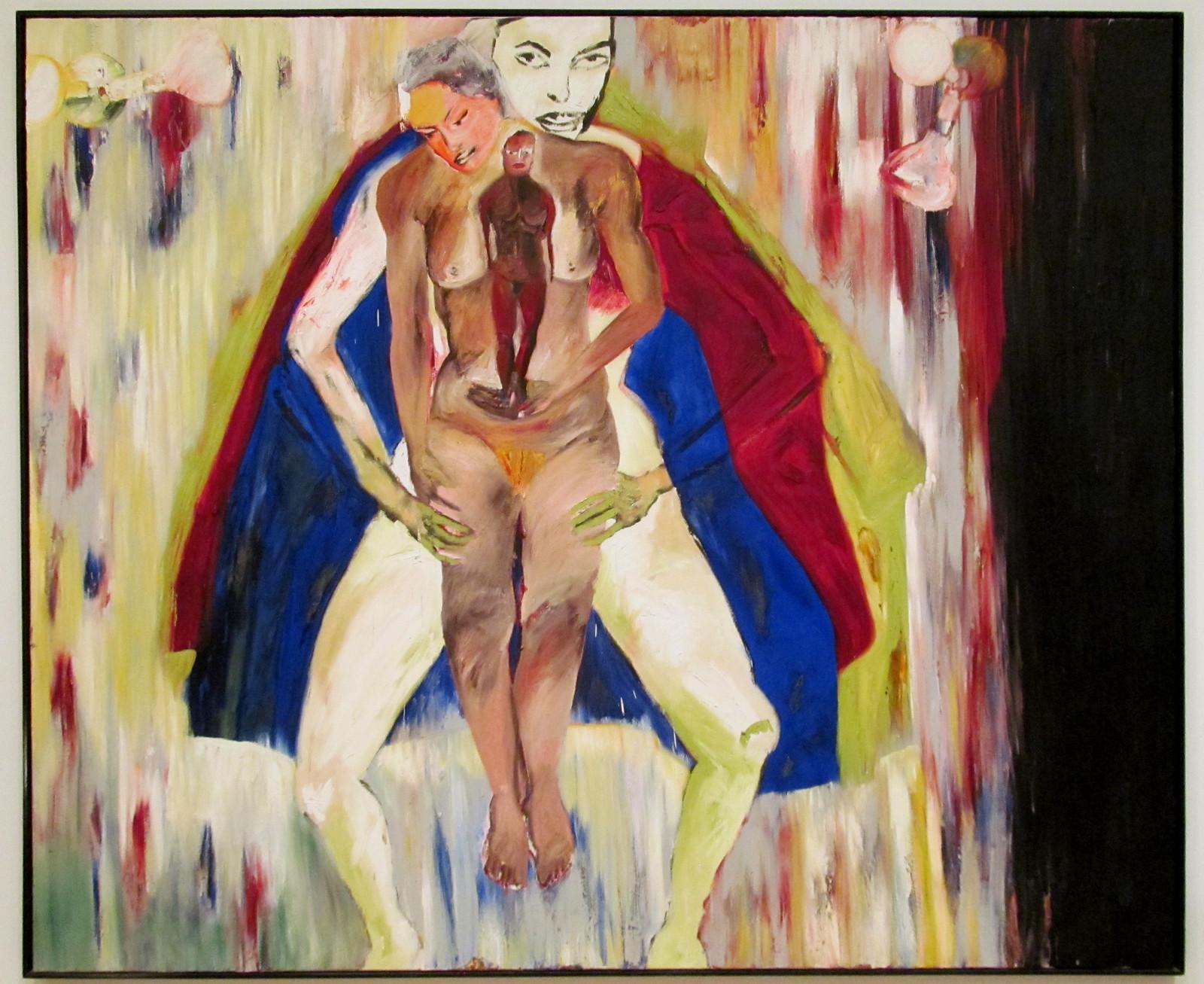 Франческо Клементе, «Мать, любовник, дочь», 1982 г..jpg