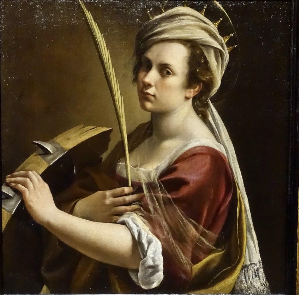 Автопортрет в образе Святой Екатерины Александрийской. Артемизия Джентилески, 1615-1717, Национальная галерея, Лондон.jpg