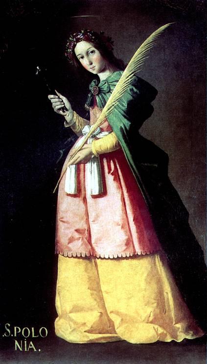 Святая Аполлония Франсиско Зубарана , 1636, Музей Лувра, Париж.jpg