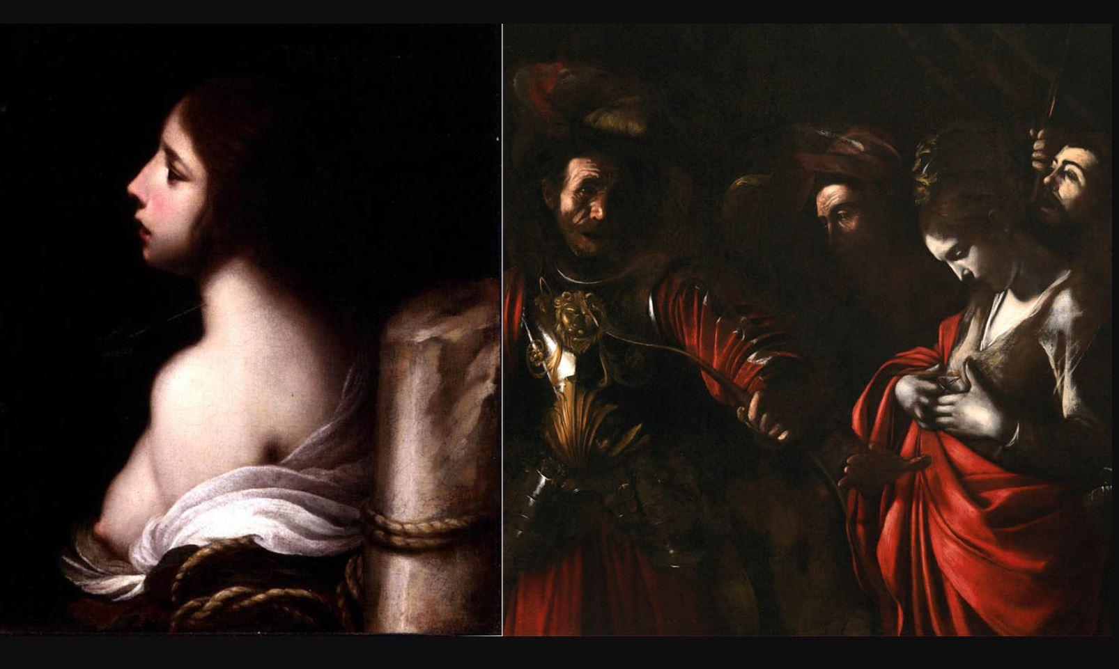 Святая Кристина Больсена , Франческо Фурини , 1635-1645, Музей искусств Джона и Мейбл Ринглинг, Сарасота; Мученичество святой Урсулы Караваджо , 1610…