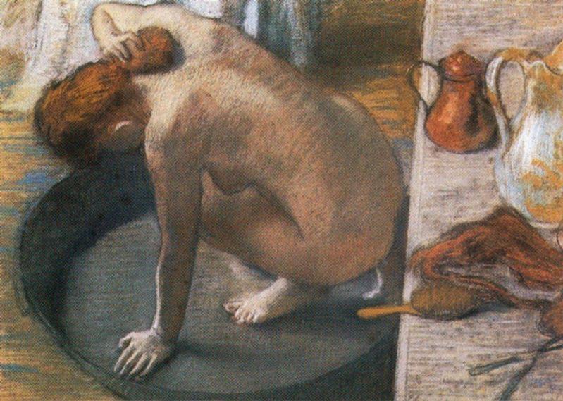 Давняя тема - купальщики в искусстве 1886-Edgar-Degas-Le-Tub.jpg