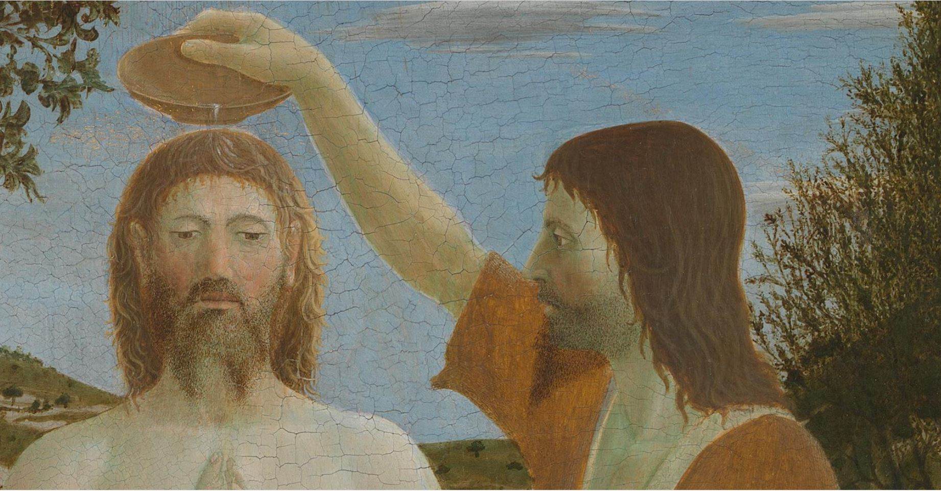 Давняя тема - купальщики в искусстве Piero_della_Francesca_-_Battesimo_di_Cristo_(National_Gallery,_London).jpg
