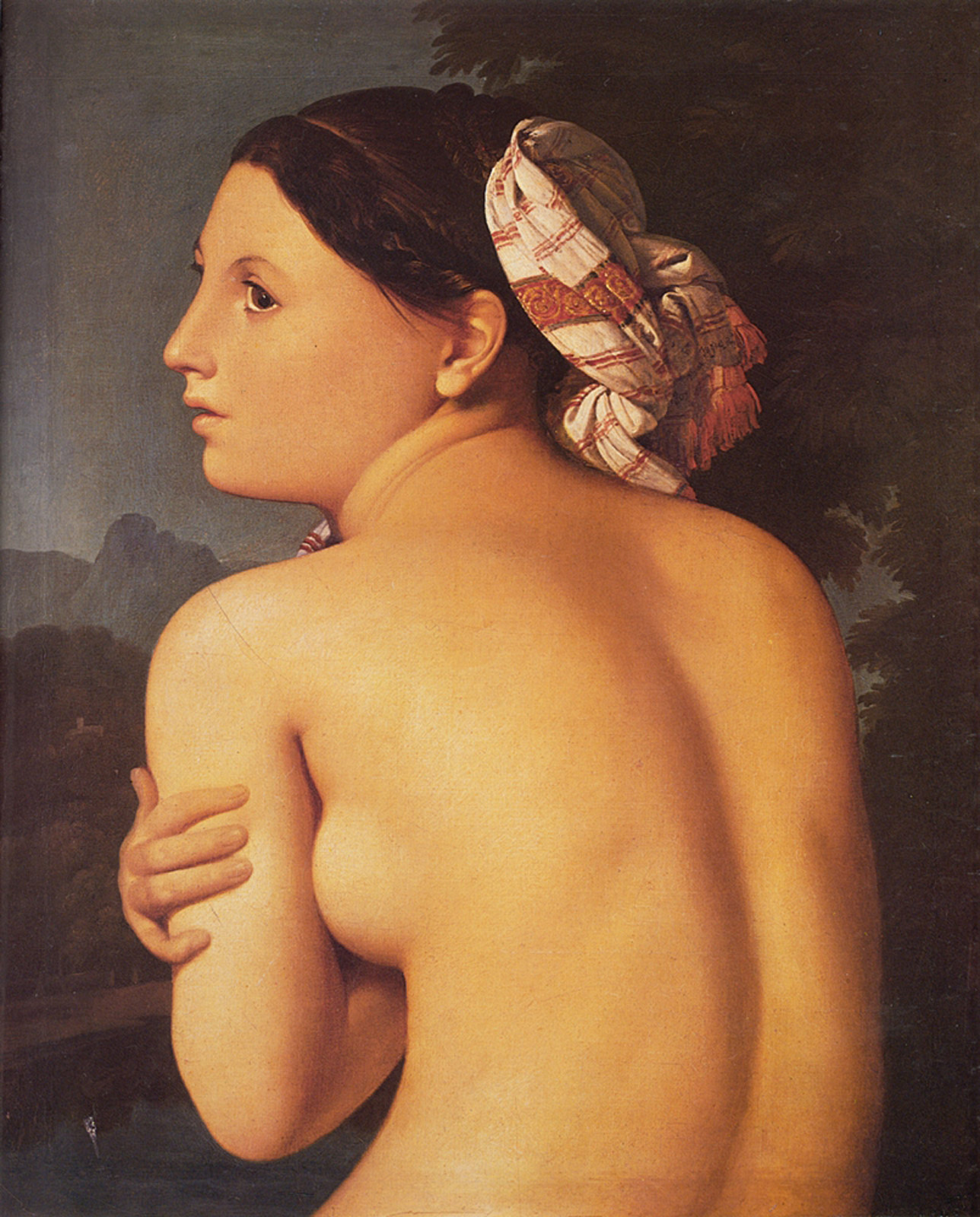 ingres - Half-figure of a Bather. 1807. Oil on canvas. Musee Bonnat, Bayonne, France.jpg