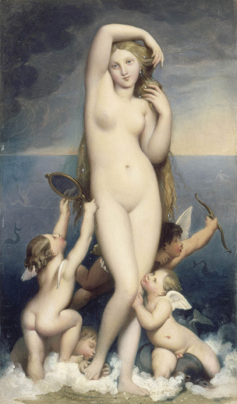 ingres - Venus Anadyomene. 1848. Oil on canvas. 164 cm x 82 cm. Musee Conde, Chantilly, France.jpg