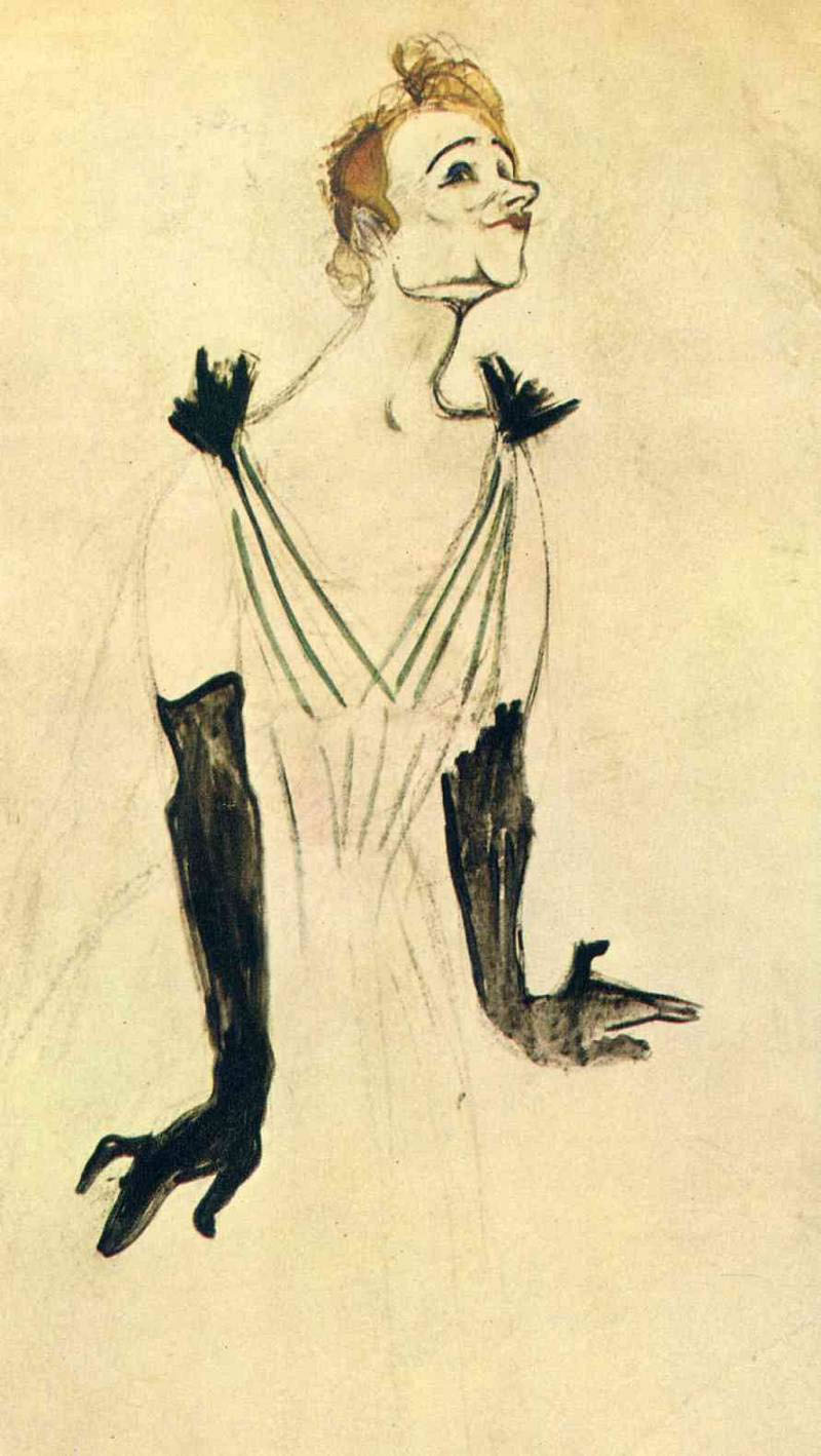 Анри де Тулуз-Лотрек , Черные перчатки Иветты Гильбер  (3).jpg