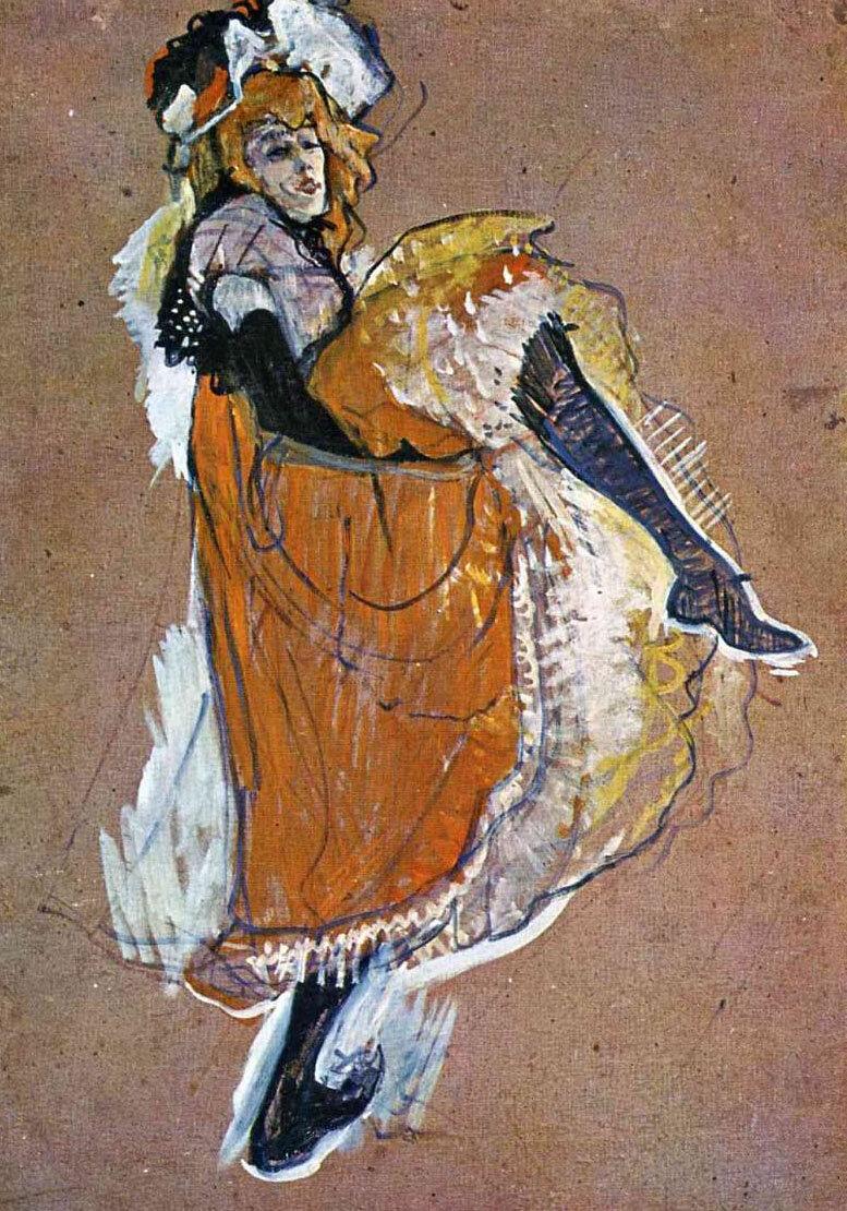 Анри де Тулуз-Лотрек , Черные перчатки Иветты Гильбер  (15).jpg