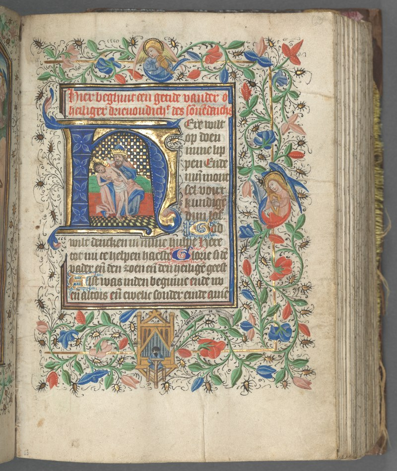 lossy-page1-800px-Master_of_the_Boston_City_of_God_-_Book_of_Hours_(Use_of_Utrecht)-_fol._63r,_Initial_with_Holy_Trinity_-_1998.124.63.a_-_Cleveland_…
