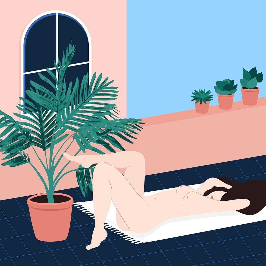 Лето и девушки: серия иллюстраций Good Weather 59767815_2452816884728953_3322974413544361365_n.jpg