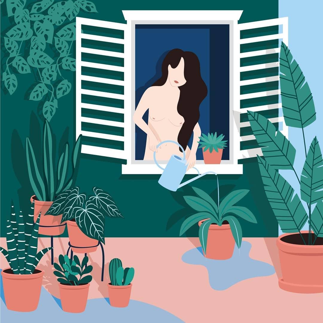 Лето и девушки: серия иллюстраций Good Weather 60042071_137784310618235_4047831761706858849_n.jpg