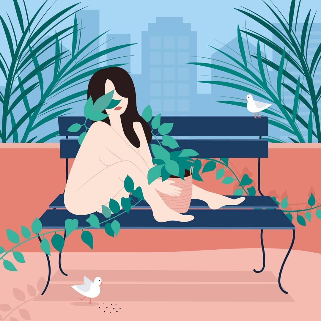 Лето и девушки: серия иллюстраций Good Weather 61271880_634120550437144_7900470204105100180_n.jpg