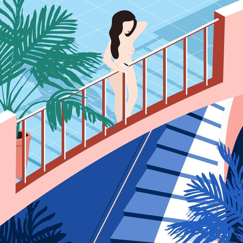 Лето и девушки: серия иллюстраций Good Weather 61390923_292183298326278_7541663666840300275_n.jpg