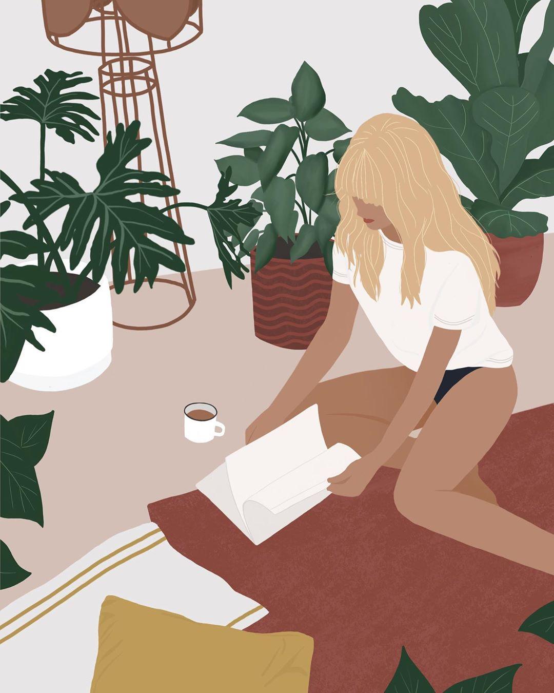 Лето и девушки: серия иллюстраций Good Weather 67441958_574478289750085_4965395420083476311_n.jpg