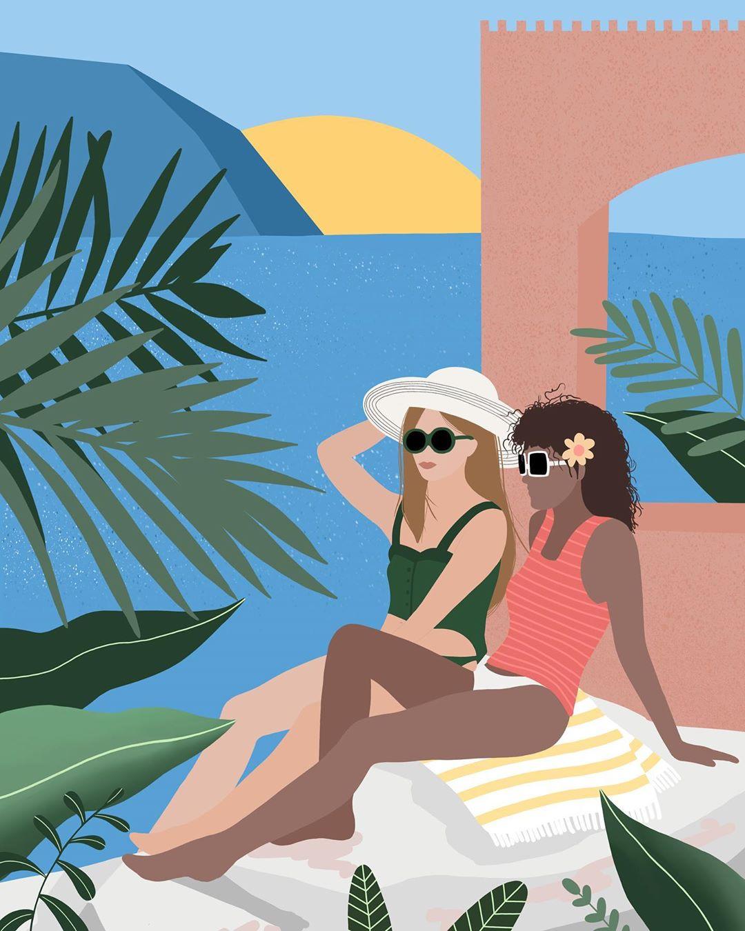 Лето и девушки: серия иллюстраций Good Weather 69879005_2382536955346982_1636185726260005939_n.jpg