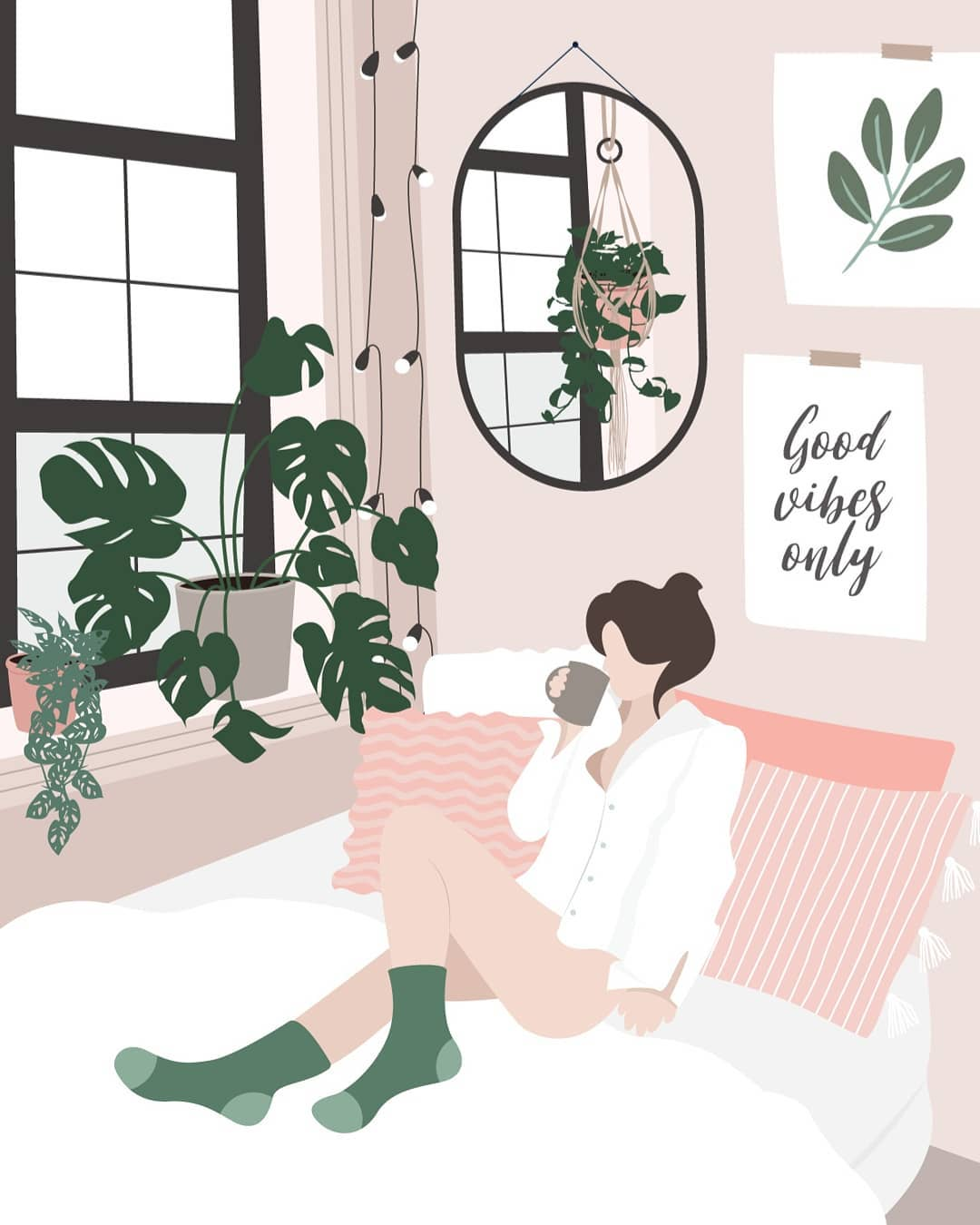 Лето и девушки: серия иллюстраций Good Weather 79307404_2248289182131777_5789215768076529199_n.jpg