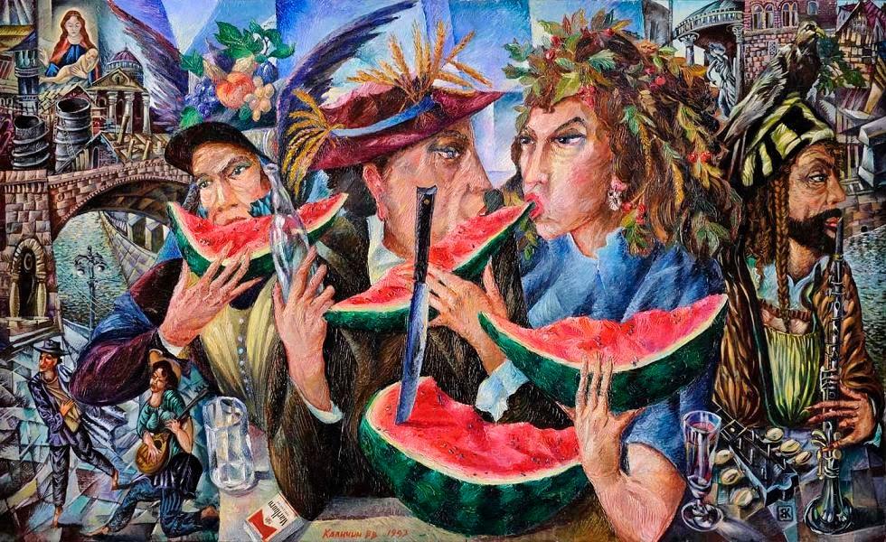 KALININ, VIATCHESLAV (B. 1939)  Harvest Festivities 93.jpg