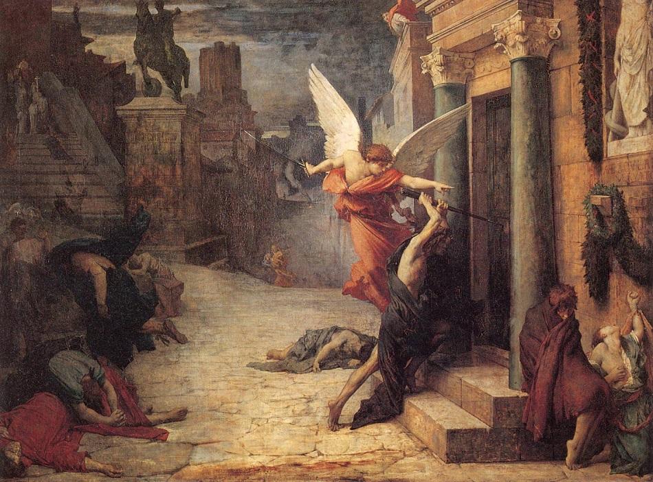 Эпидемии и социальные бунты: есть ли причинно-следственная связь? Delaunay_1869_Plague-in-Rome.jpg