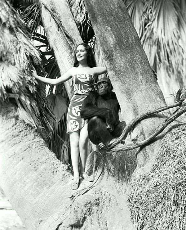 Актриса Дороти Ламур с шимпанзе Джиггзом (3).jpg