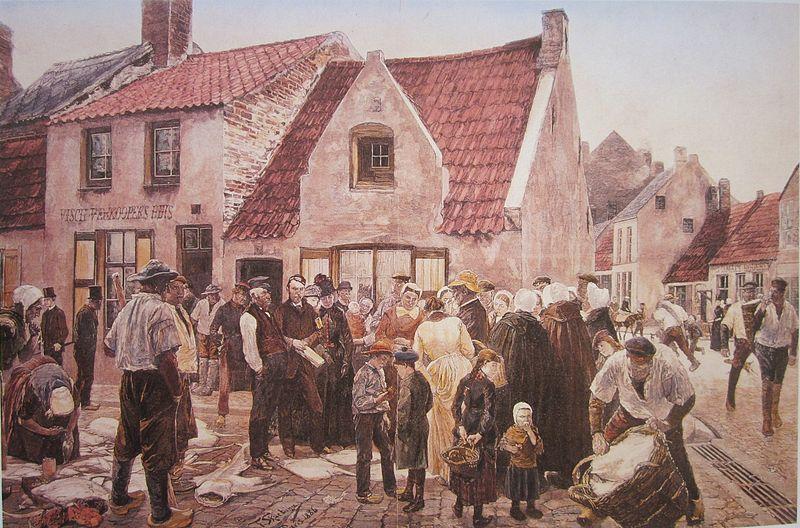 Blankenberge_vismarkt-Skarbina_1886