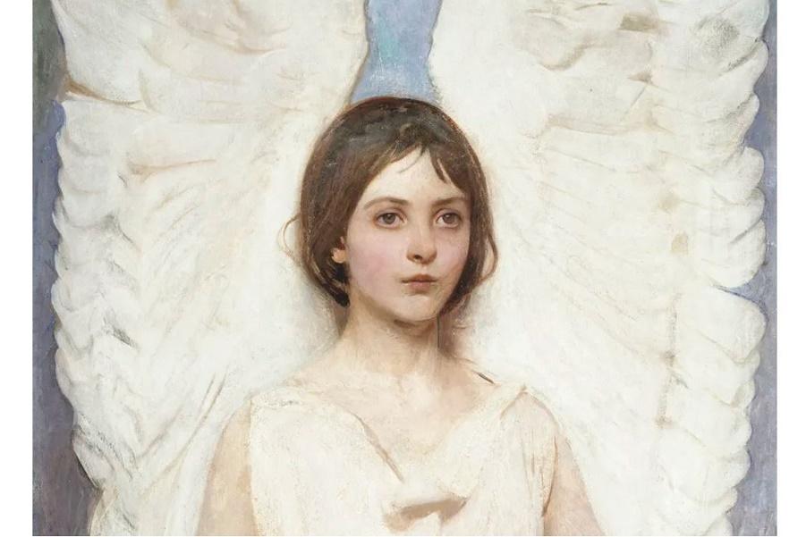 картины Эбботта Тейера «Ангел»  (1).JPG