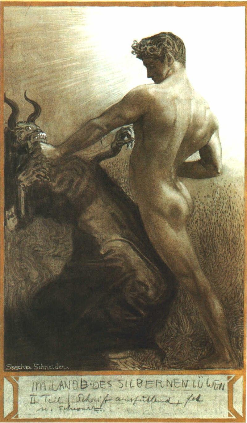 Саша Шнайдер (1870-1927), немецкий художник-символист  (8).jpg