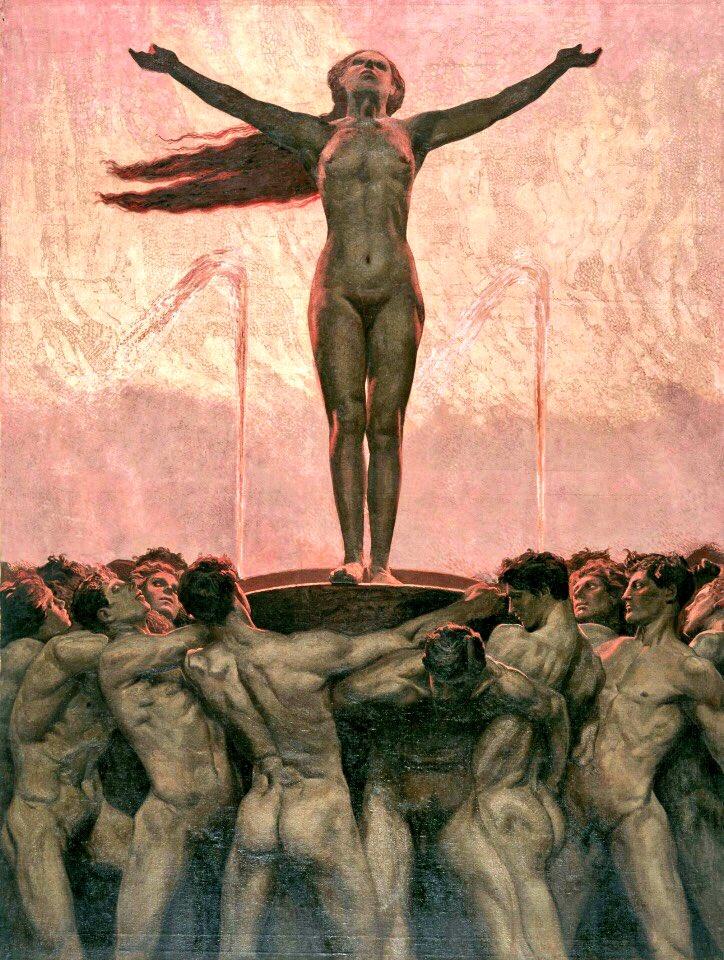 Саша Шнайдер (1870-1927), немецкий художник-символист  (11).jpg