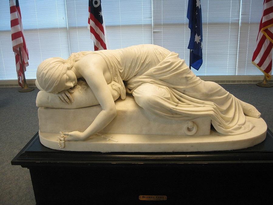 Беатрис Ченчи, мраморная скульптура (1857) Харриет Гудхью Хосмер.jpg